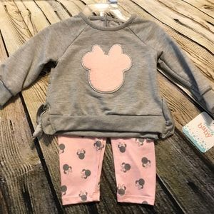 Minnie 2 pc grey and pink outfit